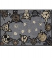 Efia: Wohnmatte Circle Cat city-chic, 50x75cm