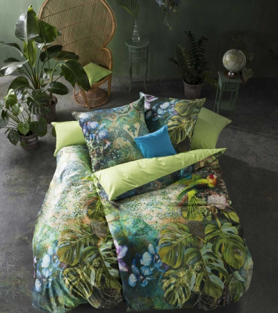 fleuresse Jungle/Tropical Bettwäsche - jungle green